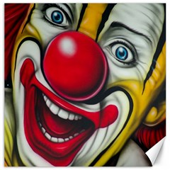 Clown Canvas 16  X 16   by Valentinaart