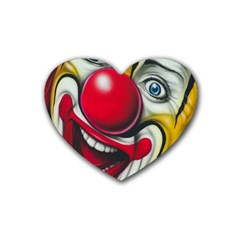 Clown Rubber Coaster (heart)  by Valentinaart