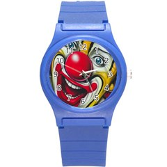 Clown Round Plastic Sport Watch (s) by Valentinaart