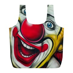 Clown Full Print Recycle Bags (l)  by Valentinaart