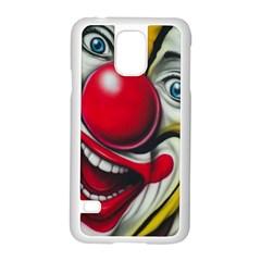 Clown Samsung Galaxy S5 Case (white) by Valentinaart