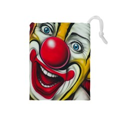 Clown Drawstring Pouches (medium)  by Valentinaart