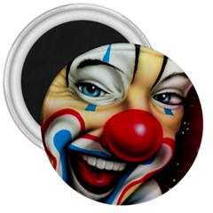 Clown 3  Magnets by Valentinaart