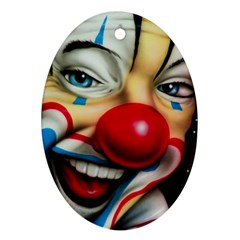 Clown Ornament (oval) by Valentinaart