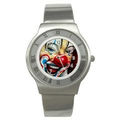 Clown Stainless Steel Watch by Valentinaart