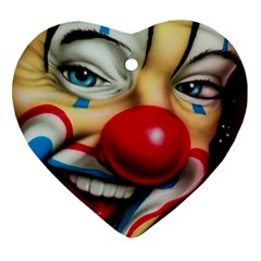 Clown Heart Ornament (two Sides) by Valentinaart