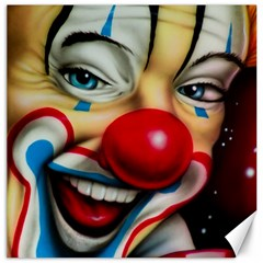 Clown Canvas 20  X 20   by Valentinaart