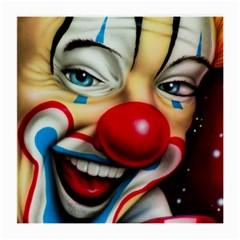 Clown Medium Glasses Cloth by Valentinaart