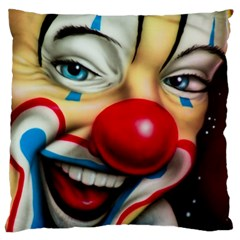 Clown Large Cushion Case (two Sides) by Valentinaart