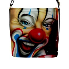 Clown Flap Messenger Bag (l)  by Valentinaart