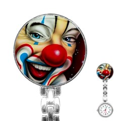 Clown Stainless Steel Nurses Watch by Valentinaart