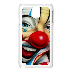 Clown Samsung Galaxy Note 3 N9005 Case (white) by Valentinaart