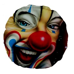 Clown Large 18  Premium Flano Round Cushions by Valentinaart