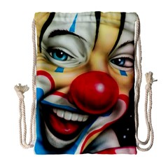 Clown Drawstring Bag (large) by Valentinaart