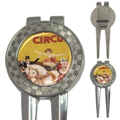 Vintage Circus  3 In 1 Golf Divots by Valentinaart