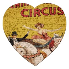 Vintage Circus  Jigsaw Puzzle (heart) by Valentinaart