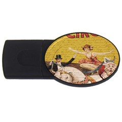 Vintage Circus  Usb Flash Drive Oval (4 Gb) by Valentinaart