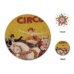 Vintage Circus  Playing Cards (round)  by Valentinaart