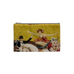 Vintage Circus  Cosmetic Bag (small)  by Valentinaart