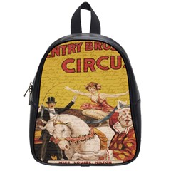 Vintage Circus  School Bags (small)  by Valentinaart