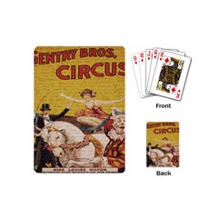 Vintage Circus  Playing Cards (mini)  by Valentinaart