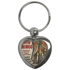 Vintage Circus  Key Chains (heart)  by Valentinaart