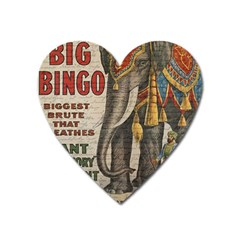 Vintage Circus  Heart Magnet by Valentinaart