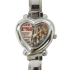 Vintage Circus  Heart Italian Charm Watch by Valentinaart