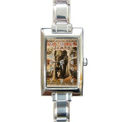 Vintage Circus  Rectangle Italian Charm Watch by Valentinaart