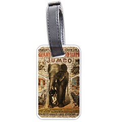Vintage Circus  Luggage Tags (two Sides) by Valentinaart