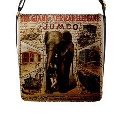Vintage Circus  Flap Messenger Bag (l)  by Valentinaart