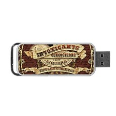 Vintage Circus  Portable Usb Flash (one Side) by Valentinaart