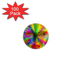 Rainbow Girl 1  Mini Magnets (100 Pack)  by Valentinaart