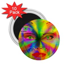 Rainbow Girl 2 25  Magnets (10 Pack)  by Valentinaart