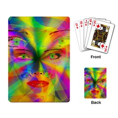 Rainbow Girl Playing Card by Valentinaart