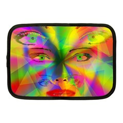 Rainbow Girl Netbook Case (medium)  by Valentinaart