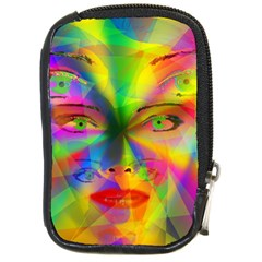 Rainbow girl Compact Camera Cases by Valentinaart