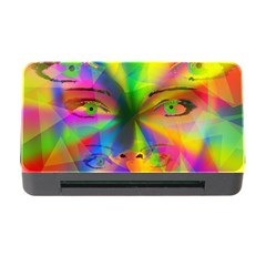 Rainbow Girl Memory Card Reader With Cf by Valentinaart