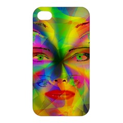 Rainbow Girl Apple Iphone 4/4s Premium Hardshell Case by Valentinaart