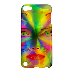 Rainbow Girl Apple Ipod Touch 5 Hardshell Case by Valentinaart