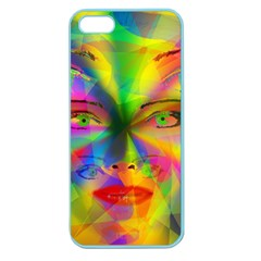 Rainbow Girl Apple Seamless Iphone 5 Case (color) by Valentinaart