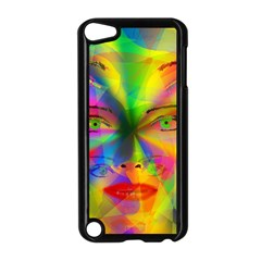 Rainbow Girl Apple Ipod Touch 5 Case (black) by Valentinaart