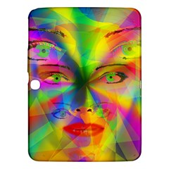Rainbow Girl Samsung Galaxy Tab 3 (10 1 ) P5200 Hardshell Case  by Valentinaart