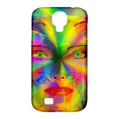 Rainbow Girl Samsung Galaxy S4 Classic Hardshell Case (pc+silicone) by Valentinaart