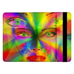 Rainbow Girl Samsung Galaxy Tab Pro 12 2  Flip Case by Valentinaart