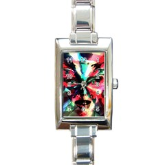 Abstract Girl Rectangle Italian Charm Watch by Valentinaart