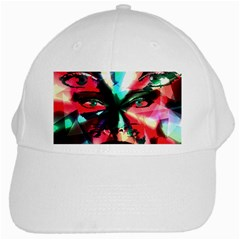 Abstract Girl White Cap by Valentinaart