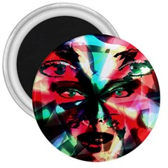 Abstract Girl 3  Magnets by Valentinaart