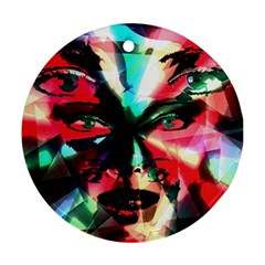 Abstract Girl Ornament (round) by Valentinaart
