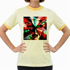Abstract Girl Women s Fitted Ringer T Shirts by Valentinaart
